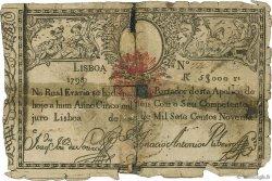 5000 Reis PORTUGAL  1826 P.024 AB