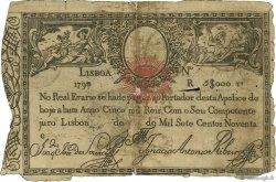 5000 Reis PORTUGAL  1826 P.024 B