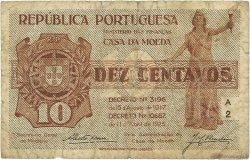 10 Centavos PORTUGAL  1925 P.101 pr.TB
