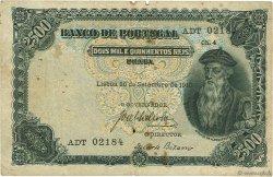 2500 Reis PORTUGAL  1916 P.107 TB
