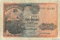 1 Escudo PORTUGAL  1920 P.113a TB