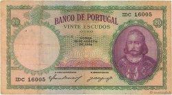 20 Escudos PORTUGAL  1946 P.153a TB+