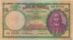 20 Escudos PORTUGAL  1948 P.153a TB+