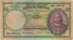 20 Escudos PORTUGAL  1951 P.153a TB