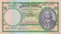 20 Escudos PORTUGAL  1954 P.153b TTB