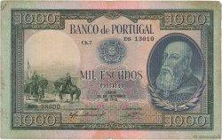 1000 Escudos PORTUGAL  1942 P.156 pr.TTB