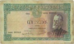 100 Escudos PORTUGAL  1957 P.159 pr.TB