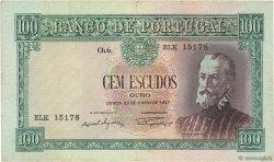 100 Escudos PORTUGAL  1957 P.159 TB