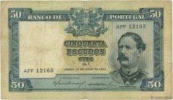 50 Escudos PORTUGAL  1955 P.160 TTB