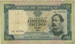 50 Escudos PORTUGAL  1960 P.164 TB