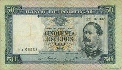 50 Escudos PORTUGAL  1960 P.164 TTB