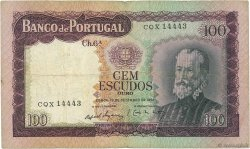 100 Escudos PORTUGAL  1961 P.165 TB