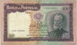 100 Escudos PORTUGAL  1961 P.165 TB+