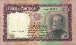 100 Escudos PORTUGAL  1961 P.165 TTB