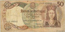 50 Escudos PORTUGAL  1964 P.168 B+