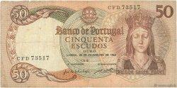 50 Escudos PORTUGAL  1964 P.168 TB