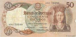 50 Escudos PORTUGAL  1964 P.168 pr.TTB
