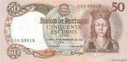 50 Escudos PORTUGAL  1964 P.168 SUP+
