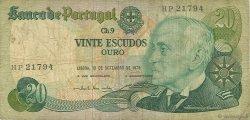 20 Escudos PORTUGAL  1978 P.176a B