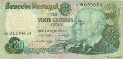 20 Escudos PORTUGAL  1978 P.176b TB