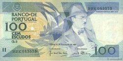 100 Escudos PORTUGAL  1987 P.179b TTB
