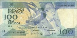 100 Escudos PORTUGAL  1988 P.179e TB