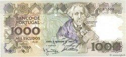 1000 Escudos PORTUGAL  1983 P.181a SPL
