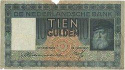 10 Gulden PAYS-BAS  1939 P.049 TB