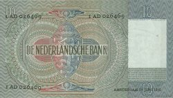 10 Gulden PAYS-BAS  1940 P.053 TTB à SUP