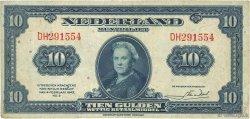 10 Gulden PAYS-BAS  1943 P.066a TTB