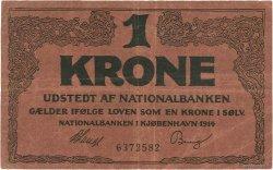 1 Kronen DANEMARK  1914 P.010b TB+