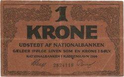 1 Kronen DANEMARK  1914 P.010b TTB
