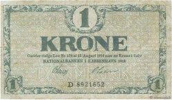 1 Krone DANEMARK  1918 P.012d B+