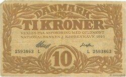10 Kroner DANEMARK  1925 P.021u B+