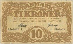 10 Kroner DANEMARK  1925 P.021u TB+