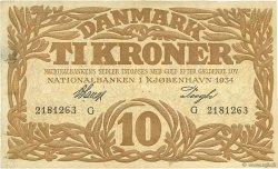 10 Kroner DANEMARK  1934 P.026j TTB