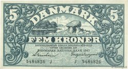 5 Kroner DANEMARK  1942 P.030h SUP+