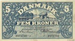 5 Krone DANEMARK  1943 P.030i TTB