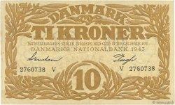 10 Kroner DANEMARK  1943 P.031p SUP