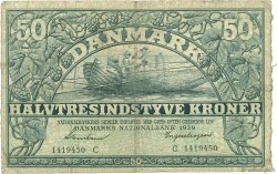 50 Kronen DANEMARK  1939 P.032b B+ à TB