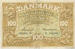 100 Kroner DANEMARK  1940 P.033b pr.TTB