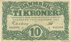 10 Kroner DANEMARK  1945 P.037c TB+