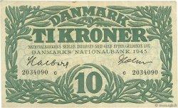 10 Kroner DANEMARK  1945 P.037c TTB+