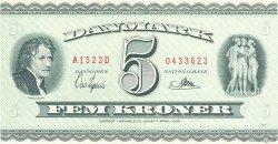 5 Kroner DANEMARK  1952 P.042a NEUF