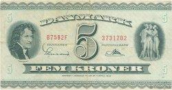 5 Kroner DANEMARK  1958 P.042n TTB