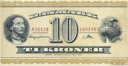 10 Kroner DANEMARK  1951 P.043b TTB+