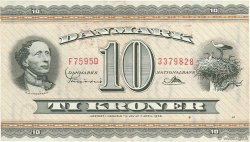 10 Kroner DANEMARK  1959 P.044p TB