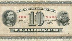 10 Kroner DANEMARK  1960 P.044p TTB