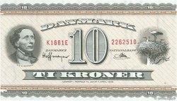 10 Kroner DANEMARK  1966 P.044u SPL