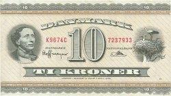 10 Kroner DANEMARK  1967 P.044u TTB
